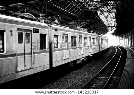 juanda train - stock photo