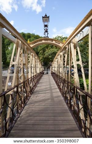 Jubilee Bridge Matlock Bath - stock photo