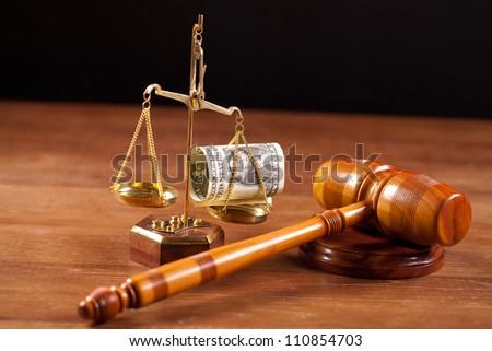 judge gavel - stock photo