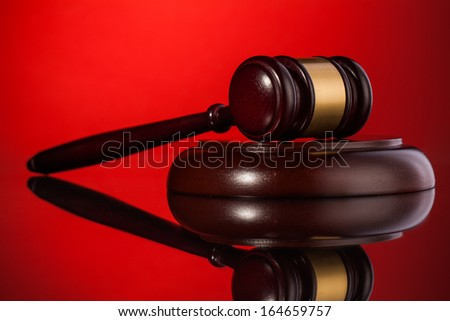 judge gavel  law composition - stock photo