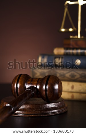 Judges wooden gavel - stock photo