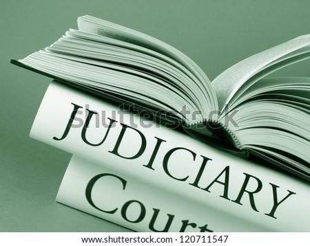 Judiciary (book titles) - stock photo