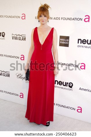 Judy Greer at the 21st Annual Elton John AIDS Foundation Oscar Party held at the Pacific Design Center in West Hollywood on February 24, 2013.  - stock photo