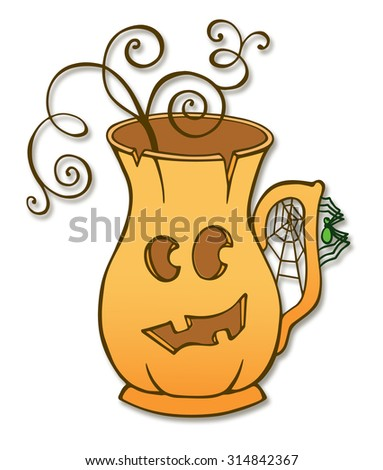 Jug decoration for Halloween - stock photo