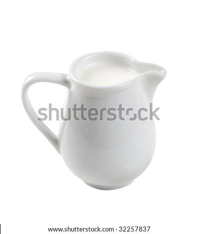 Jug of fresh milk - stock photo