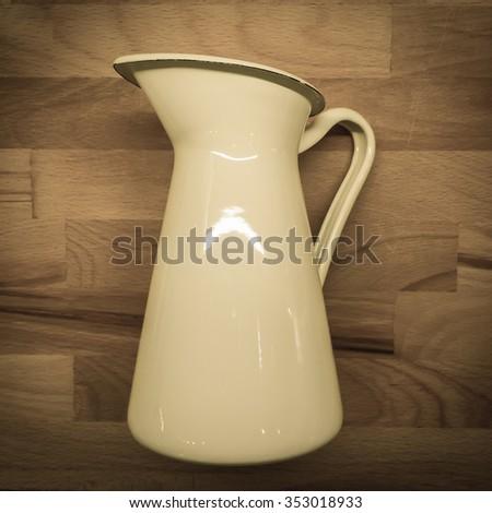 jug vintage for kitchen - stock photo