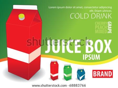juice box, milk box, jpg - stock photo