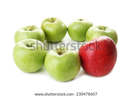 Juicy apples close-up - stock photo