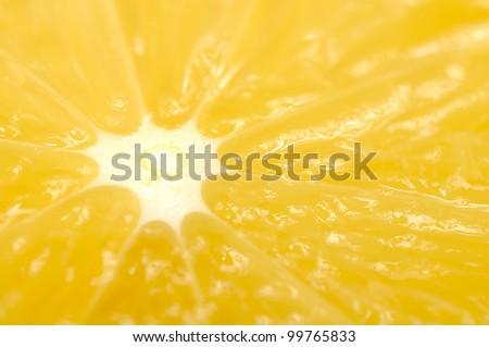 Juicy Orange Macro - stock photo