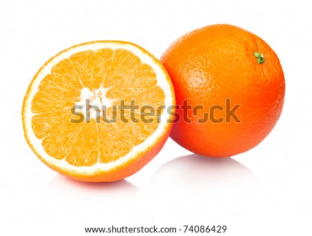 Juicy Oranges Refreshment - stock photo