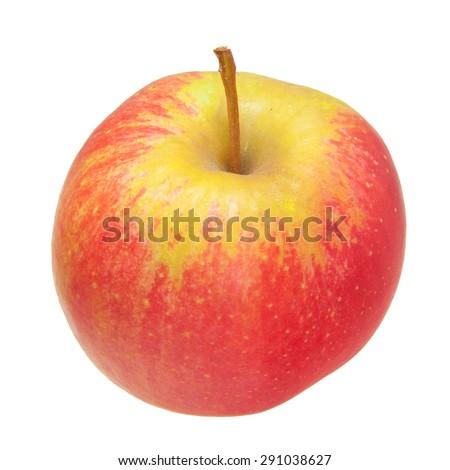 juicy ripe apple isolated on white background - stock photo