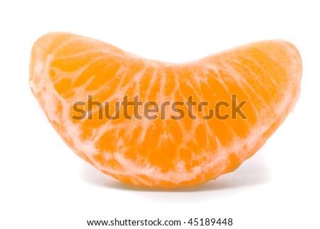 Juicy tangerine on a white background - stock photo
