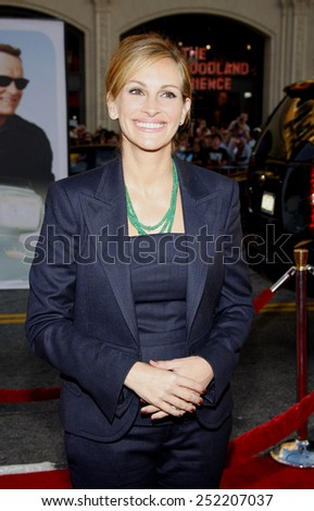 "Julia Roberts at the World Premiere of ""Larry Crowne"" held at the Grauman's Chinese Theater in Los Angeles, California, United States on June 27, 2011.  - stock photo"