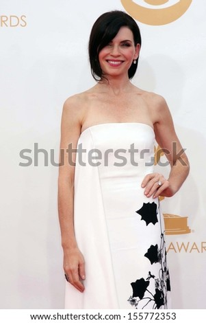 Julianna Margulies at the 65th Annual Primetime Emmy Awards Arrivals, Nokia Theater, Los Angeles, CA 09-22-13 - stock photo