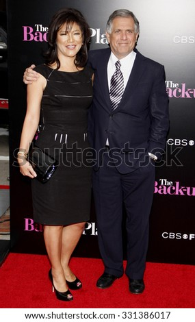 """Julie Chen and Leslie Moonves at the Los Angeles premiere of """"The Back-Up Plan"""" held at the Westwood Village Theater in Hollywood, USA on April 21, 2010. - stock photo"""