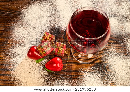 Julmust, a traditional Swedish Christmas drink in a festive still life - stock photo