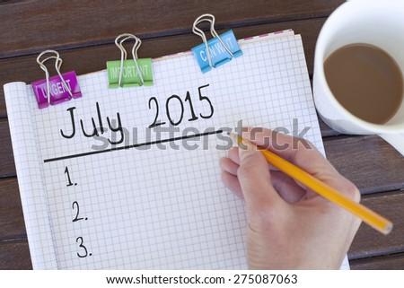 July 2015 - stock photo