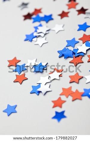 July 4th Confetti - stock photo