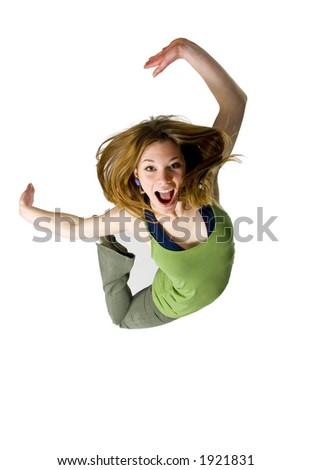jump for joy - stock photo