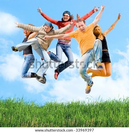 Jumping - stock photo