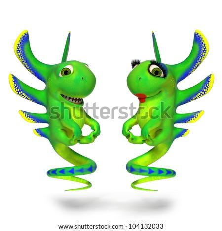 Jumping lizards - stock photo