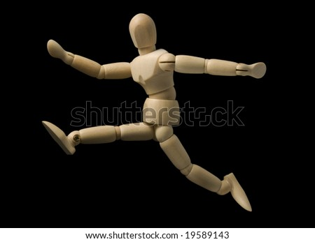 jumping mannequin - stock photo