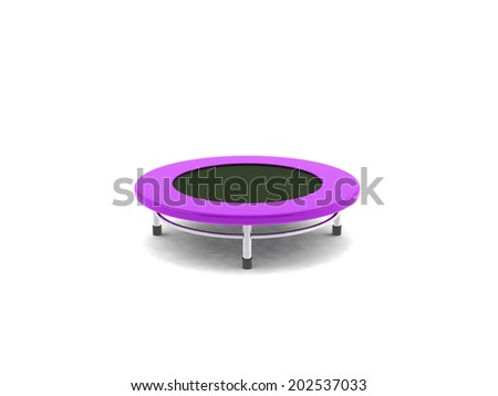 jumping on the trampoline - stock photo