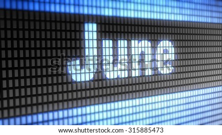 June sign - stock photo