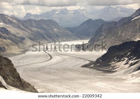 jungfraujoch, switserland - stock photo