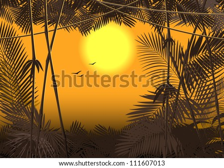 jungle forest. raster version 3 - stock photo