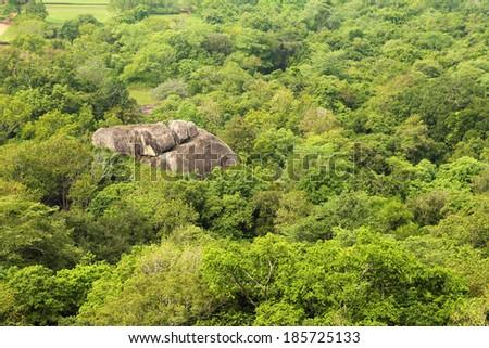 jungle mountain aerial view - stock photo