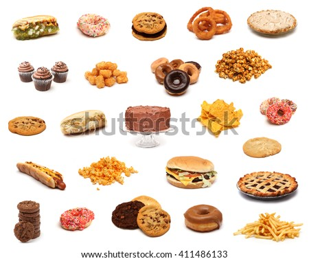 Junk Food Collage - stock photo