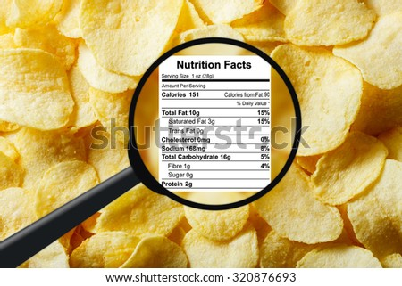 Junk food concept - potato chips - stock photo
