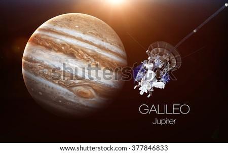 Jupiter - Galileo spacecraft. This image elements furnished by NASA. - stock photo