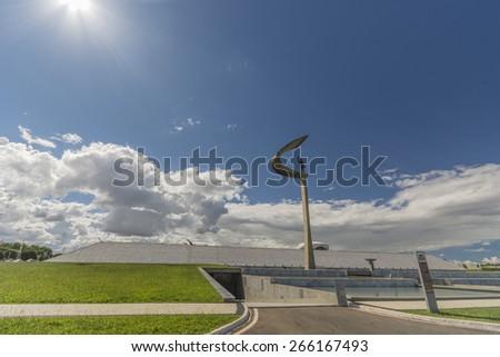 Juscelino Kubitschek memorial in Brasilia, Brazil   - stock photo