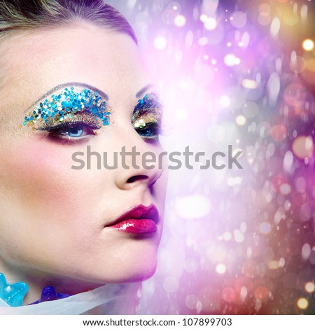 Just a beauty. Abstract female portrait - stock photo