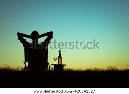 Just sit back relax and enjoy life. - stock photo