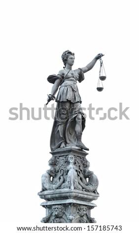 justice statue - stock photo