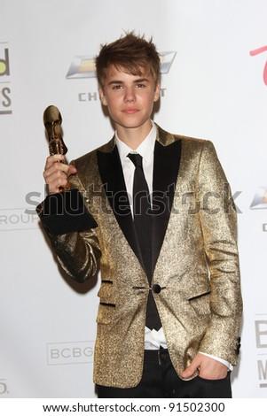 Justin Bieber at the 2011 Billboard Music Awards Press Room, MGM Grand Garden Arena, Las Vegas, NV. 05-22-11 - stock photo