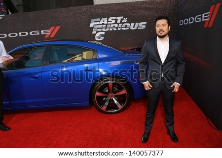 """Justin Lin at the """"Fast And Furious 6"""" Los Angeles Premiere, Gibson Amphitheatre, Universal City, CA  05-21-13 - stock photo"""