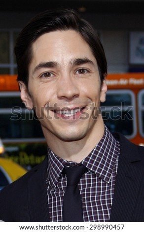Justin Long at the Los Angeles premiere of 'Going The Distance' held at the Grauman's Chinese Theater in Hollywood on August 23, 2010.   - stock photo