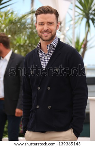 Justin Timberlake at the 66th Cannes Film Festival - Inside Llewyn Davis Photocall, Cannes, France. 19/05/2013 - stock photo