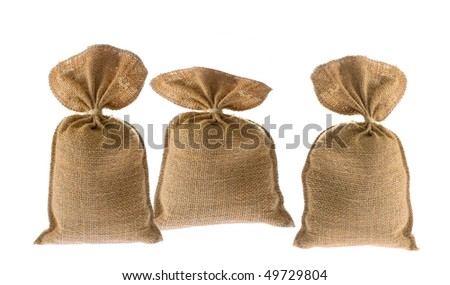 Jute bag on white background - stock photo