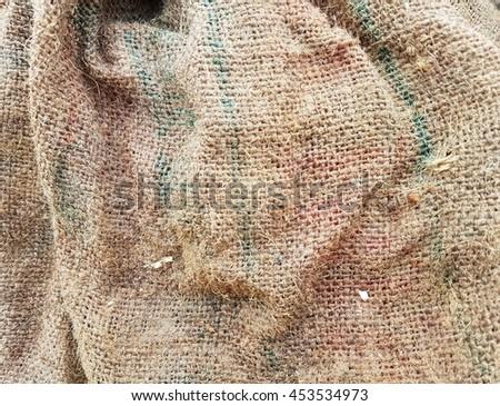 Jute burlap border/texture - stock photo
