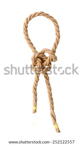 Jute rope knot - stock photo