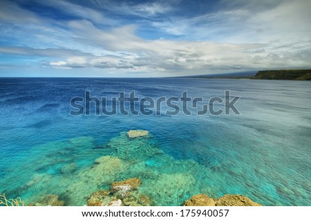 Ka lae South point in Big island, Hawaii. Southernmost point of the United States - stock photo