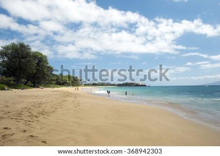 Kaanapali Beach, Maui, Hawaii -1  - stock photo
