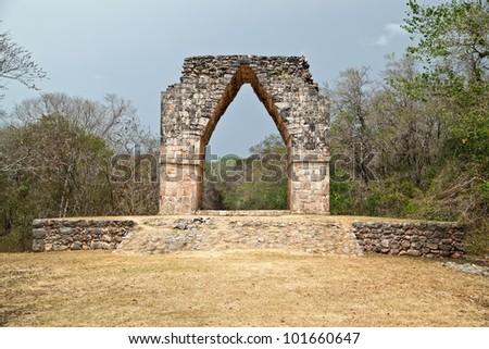 Kabah arch. - stock photo