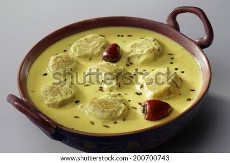 Kadhi Pakoad, Indian cuisine, India - stock photo