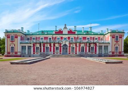 Kadriorg palace in Tallinn city - stock photo